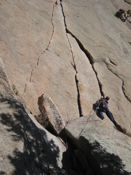 Rock Climbing Photo: Me on the lead.