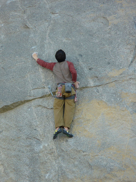Rock Climbing Photo: Almost finished with the crux moves on Gypsy. Phot...