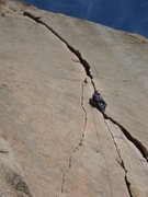Rock Climbing Photo: Just past the cruxy pod, after taking a rest on th...