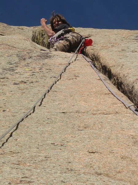 Rock Climbing Photo: Wait a minute... I thought the crack was the boss ...
