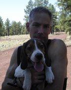 Rock Climbing Photo: my dog and I