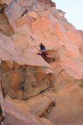 Rock Climbing Photo: Beta photo.... Kyle working Parting Gift. He is ju...
