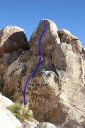 Rock Climbing Photo: Feel the Love (5.11a), Joshua Tree NP