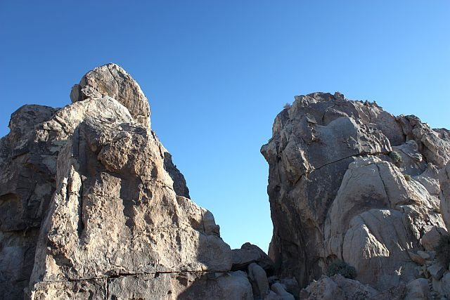 The northwest side of Sunlight Rock, Joshua Tree NP <br>