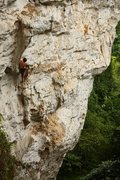 Rock Climbing Photo: Pier Luigi, getting to the tuffa on Money Can't Bu...
