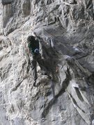 Rock Climbing Photo: Jamie on Squeeze Play.