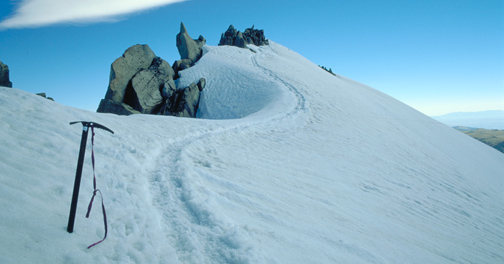 Rock Climbing Photo: summit ridge of Gannett Peak