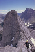 Rock Climbing Photo: Wolf's Head traverse. an amazing mountain with a p...