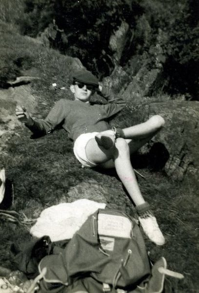 Cumbria's top sausage maker ,who found fame and fortune in the United States.Here seen relaxing in the Langstrath Valley.