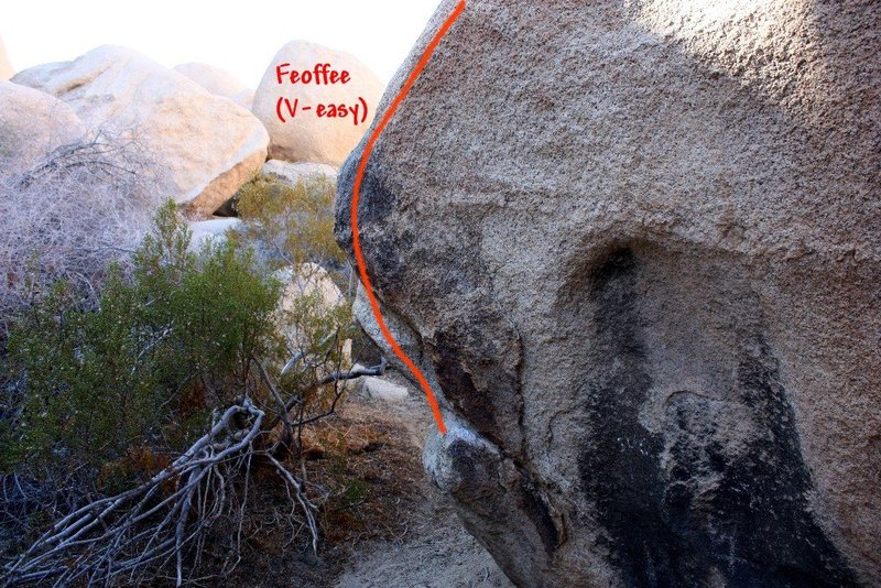Feoffee (V-easy), Joshua Tree NP<br>