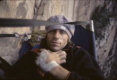 Rock Climbing Photo: Mugs 3rd Bivy Streaked Wall '90