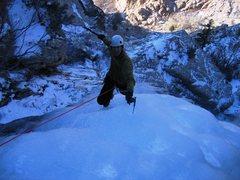 Rock Climbing Photo: Matt puts the whoop on the crux of the Willard Can...