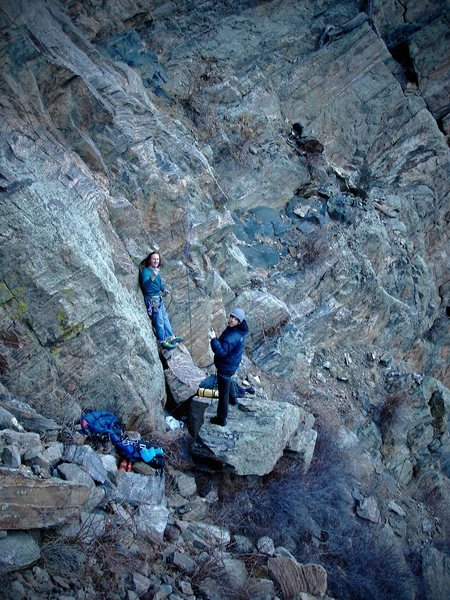 Luke & Jason getting ready for the F.A. of what would become &quot;Spinner Bait.&quot;  The new line at the just posted &quot;Guppy&quot; formation.  More cool routes to come on this formation!!<br> <br> Photo by:  Jaime Childers.