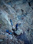 Rock Climbing Photo: Luke & Jason getting ready for the F.A. of what wo...