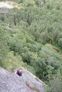 Rock Climbing Photo: Unknown 2 pitch 5.6 slab climb at what I was told ...