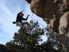 Rock Climbing Photo: Taking a whipper.