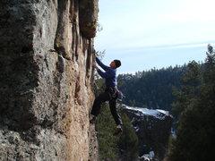 Rock Climbing Photo: Swinging on Swinging.