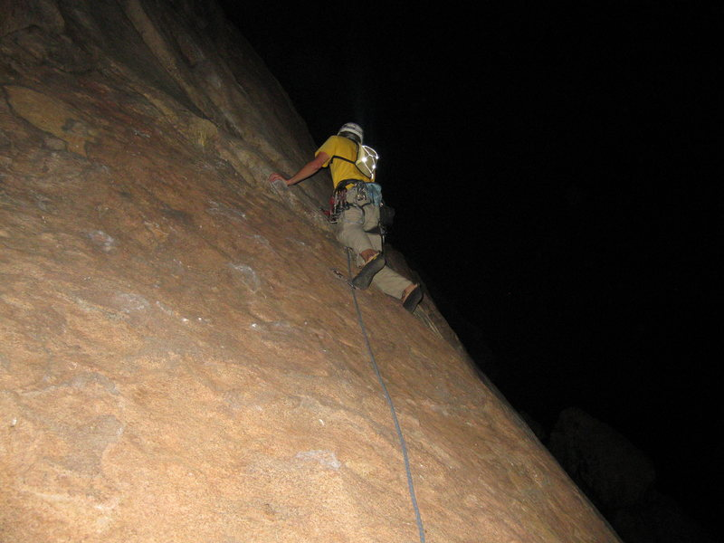 Rock Climbing Photo: 1st pitch of Leonids