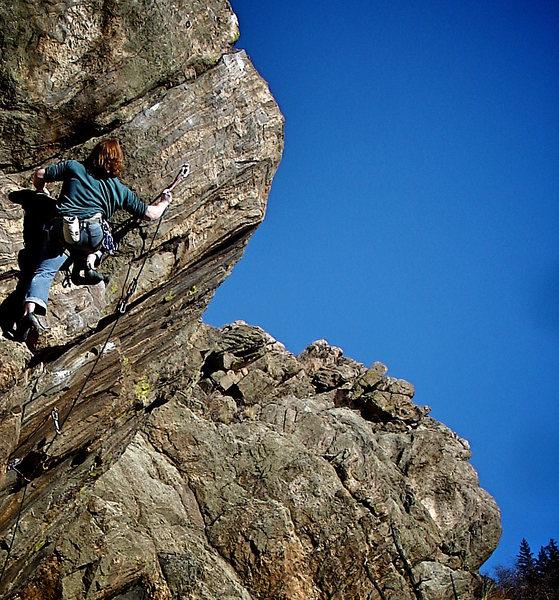 "Rock Climbing Photo: Located on ""The Guppy"" Luke Childers on ..."