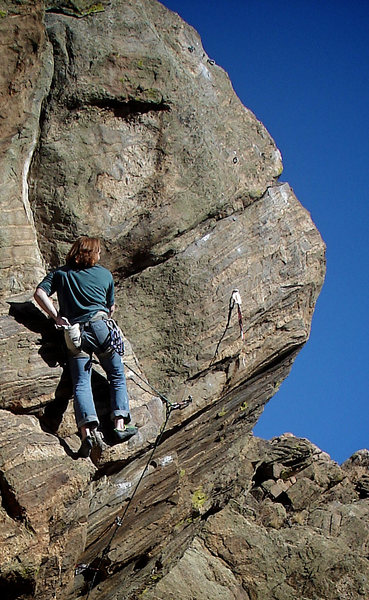 Rock Climbing Photo: Luke Childers resting on the F.A. of what would be...