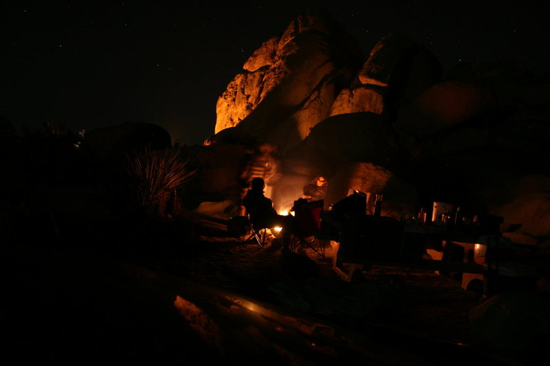 Night time in Ryan Campground.