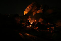 Rock Climbing Photo: Night time in Ryan Campground.