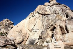 Rock Climbing Photo: The Greedy Goat (5.10b), Joshua Tree NP