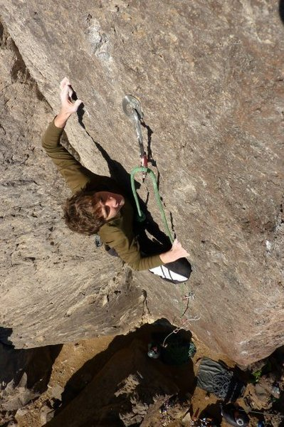 Rock Climbing Photo: Nearing the top of the route where the holds feel ...