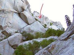 Rock Climbing Photo: Upper Green A gully
