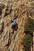 Rock Climbing Photo: Arthur Grimshaw on Center Route.