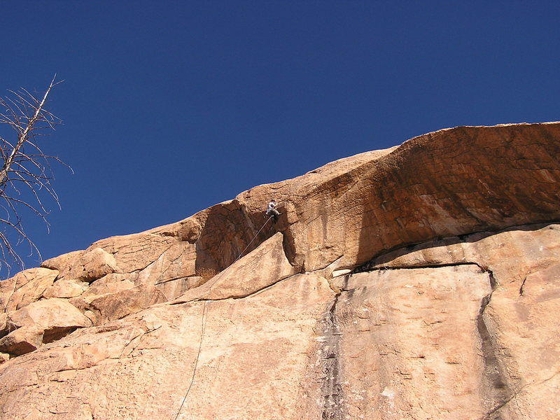 Upper crux section, Hangin' 10.