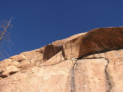Rock Climbing Photo: Upper crux section, Hangin' 10.