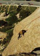 Rock Climbing Photo: Arthur Grimshaw on the slab finale...lots of fun!