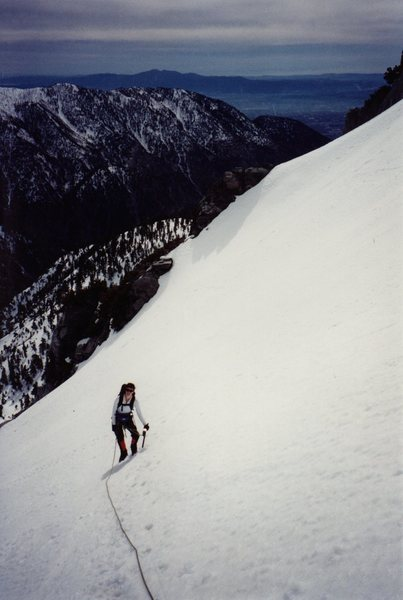 Noreen Flynn on perfect snow in 1998.
