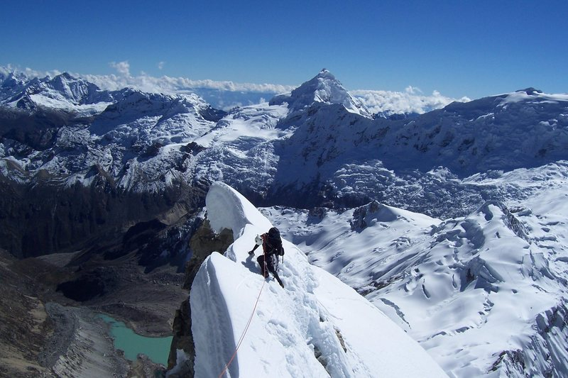 Rock Climbing Photo: NE ridge of Ranrapalca
