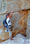Rock Climbing Photo: Early season outing at Cecret Lake: Shaft executin...