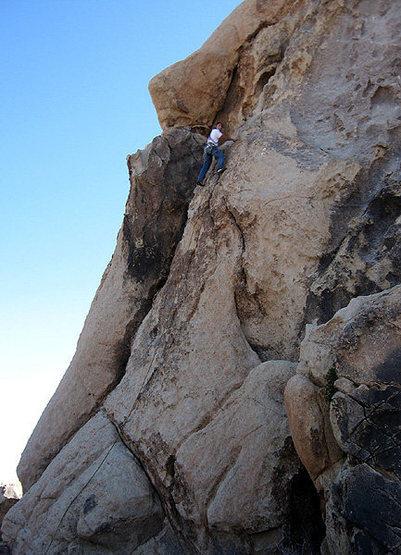 Rock Climbing Photo: Bluto on a variation. Photo by Sonya Dickenson.