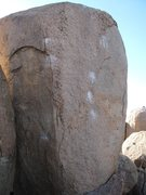 Rock Climbing Photo: Unhinged V3, classic mantle problem, scary without...