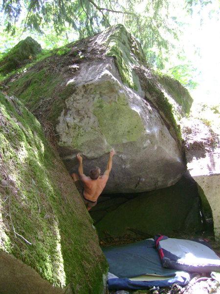 Rock Climbing Photo: Nate on the start