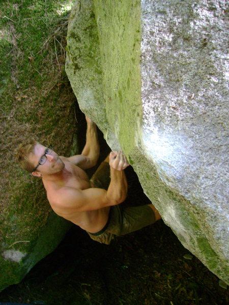 Rock Climbing Photo: Eyeing up the sloper