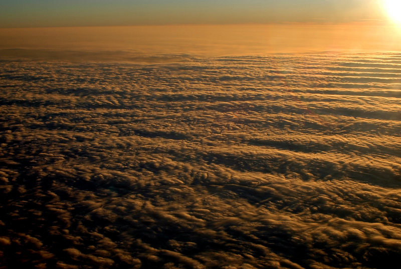 Above the clouds over New Hampshire