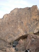 Rock Climbing Photo: This is the slab. Dog isn't a hold, she whines too...