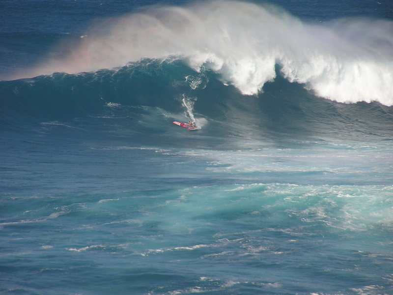 Rock Climbing Photo: Robby Nash dropping in at Jaws
