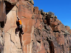 Rock Climbing Photo: A beautiful crack offers up painful off-fingers in...