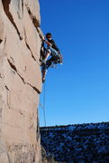 Rock Climbing Photo: Peter Gilroy Hangin'@ The New Buff Wall. FoleyPhot...