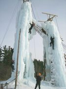 Rock Climbing Photo: twin towers of ice near Flint, MI.
