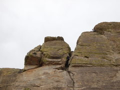 Rock Climbing Photo: crack head