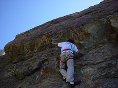 Rock Climbing Photo: Me on Red Red Whine in 2003. I was living in China...