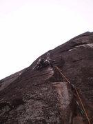 Rock Climbing Photo: Crux of Windwalker