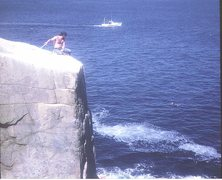 Rock Climbing Photo: Historic photo .April 1971 . P.Ross and other on t...